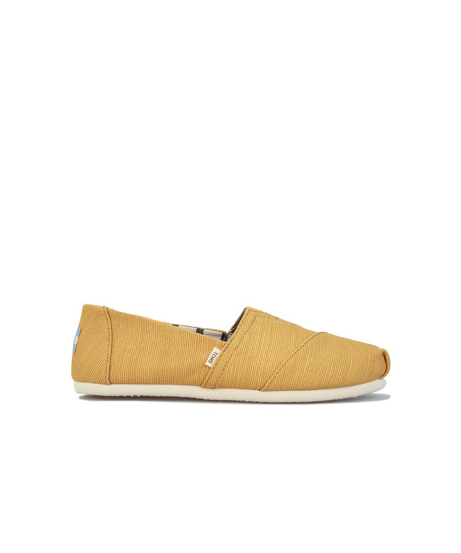 Image for Women's Toms Classics Heritage Canvas Pumps Gold UK 3in Gold
