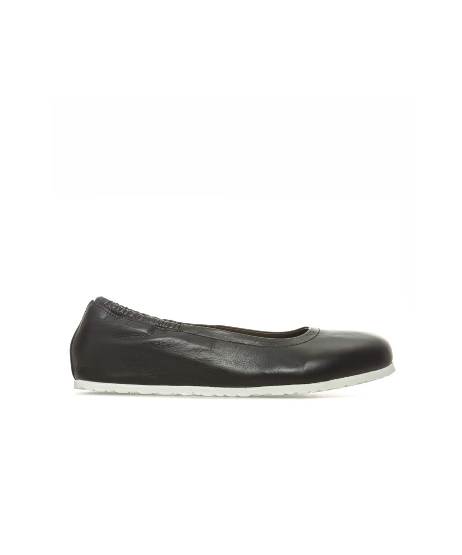 Image for Women's Birkenstock Celina Leather Ballerina Shoes Regular in Black