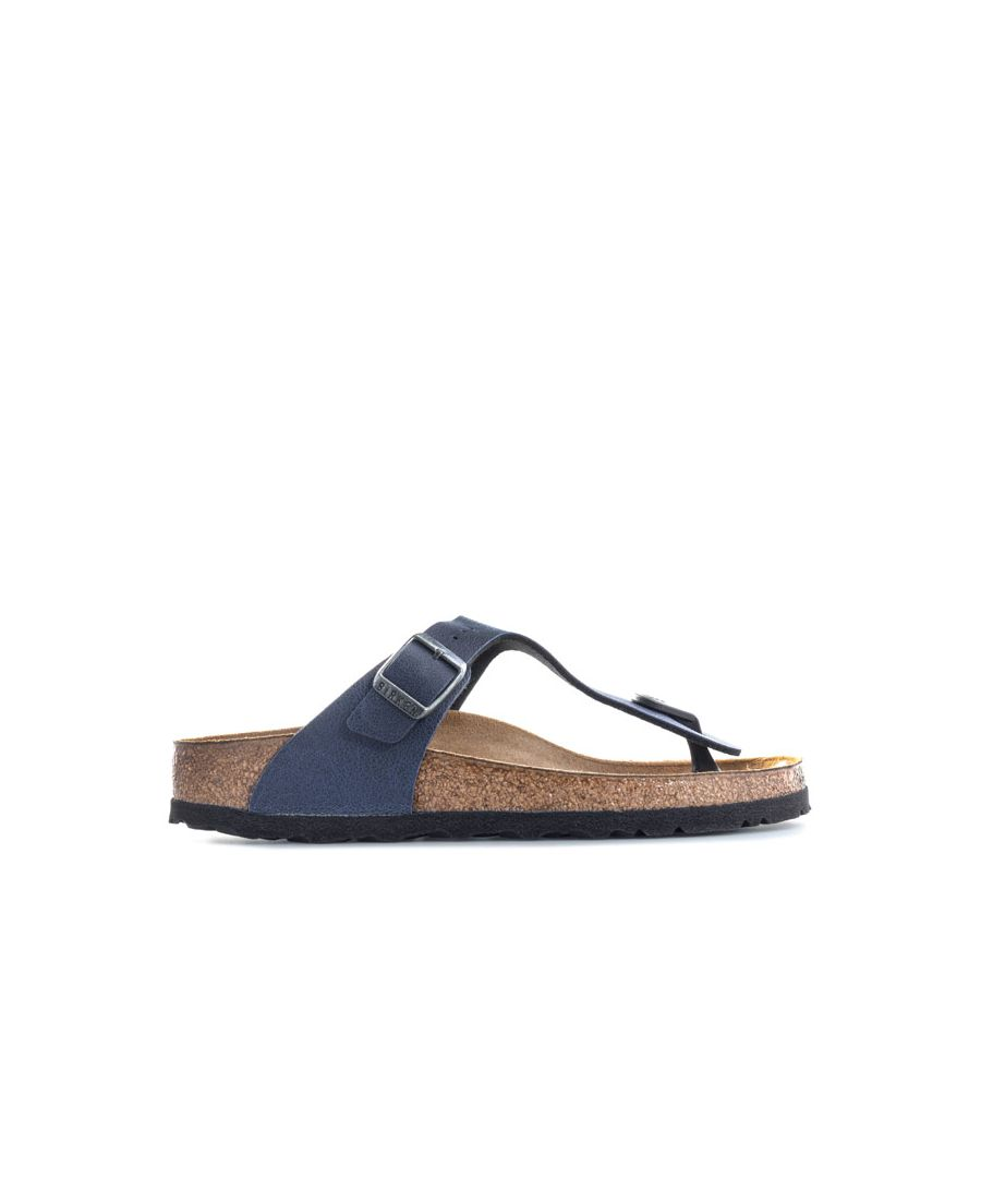 Image for Boy's Birkenstock Children Gizeh Pull Up Sandals in Navy