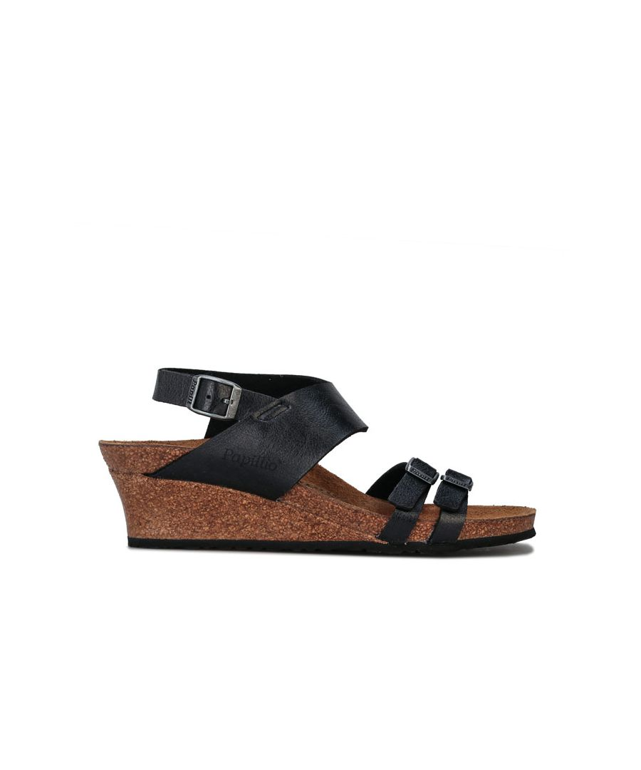 Image for Women's Papillio Ellen Wedge Sandals Narrow Width in Black