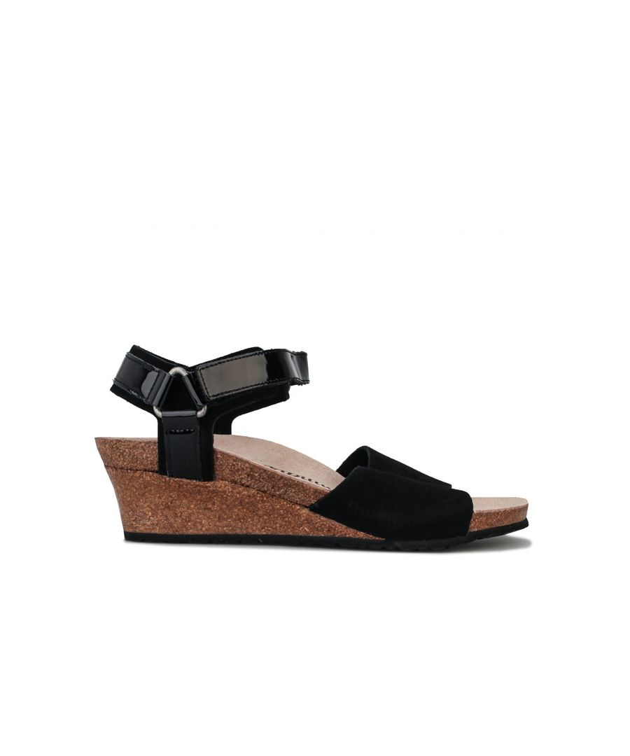 Image for Women's Papillio Eve Wedge Sandals Narrow Width in Black