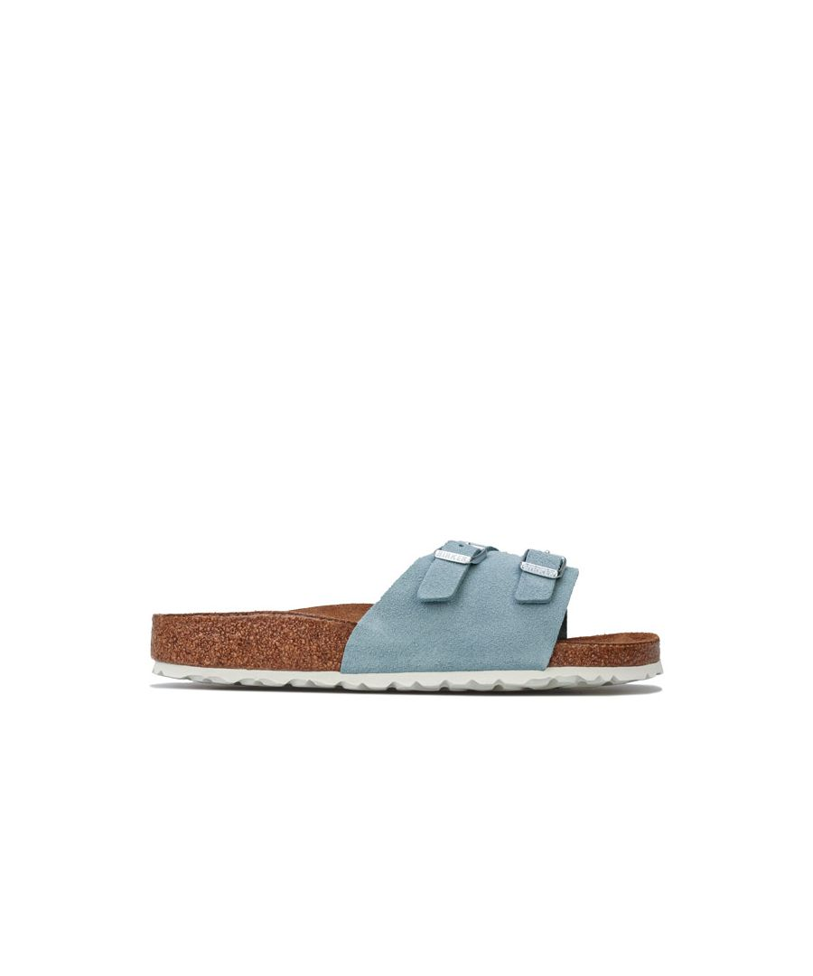 Image for Women's Birkenstock Vaduz Soft Footbed Sandals Narrow Width in Light Blue