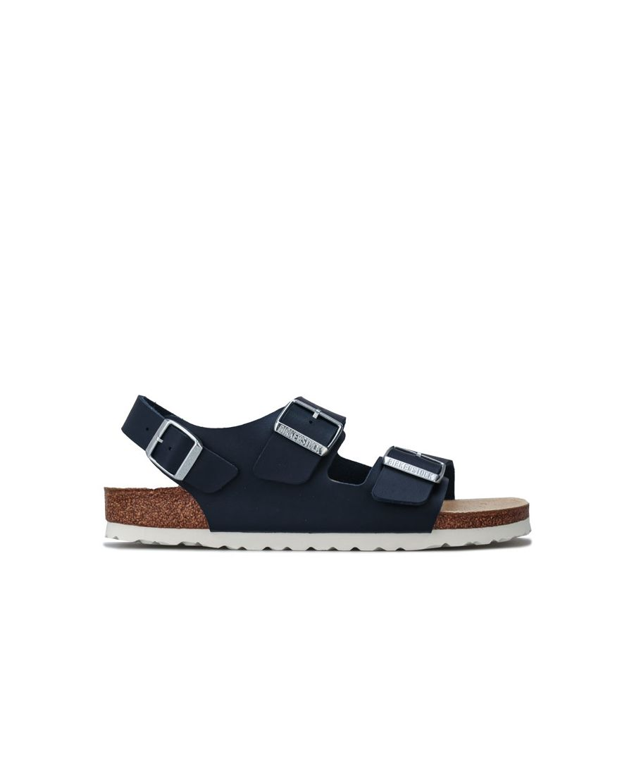 Image for Women's Birkenstock Milano Sandals Narrow Width in Blue