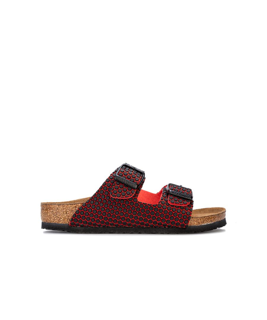Image for Girl's Birkenstock Children Arizona MF Sandals in red black
