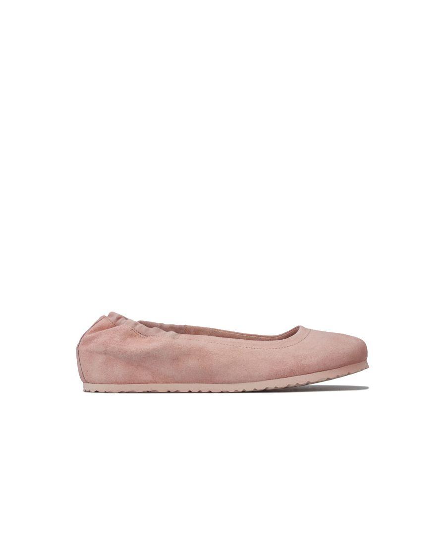 Image for Women's Birkenstock Celina Suede Ballerina Shoes Narrow in Rose