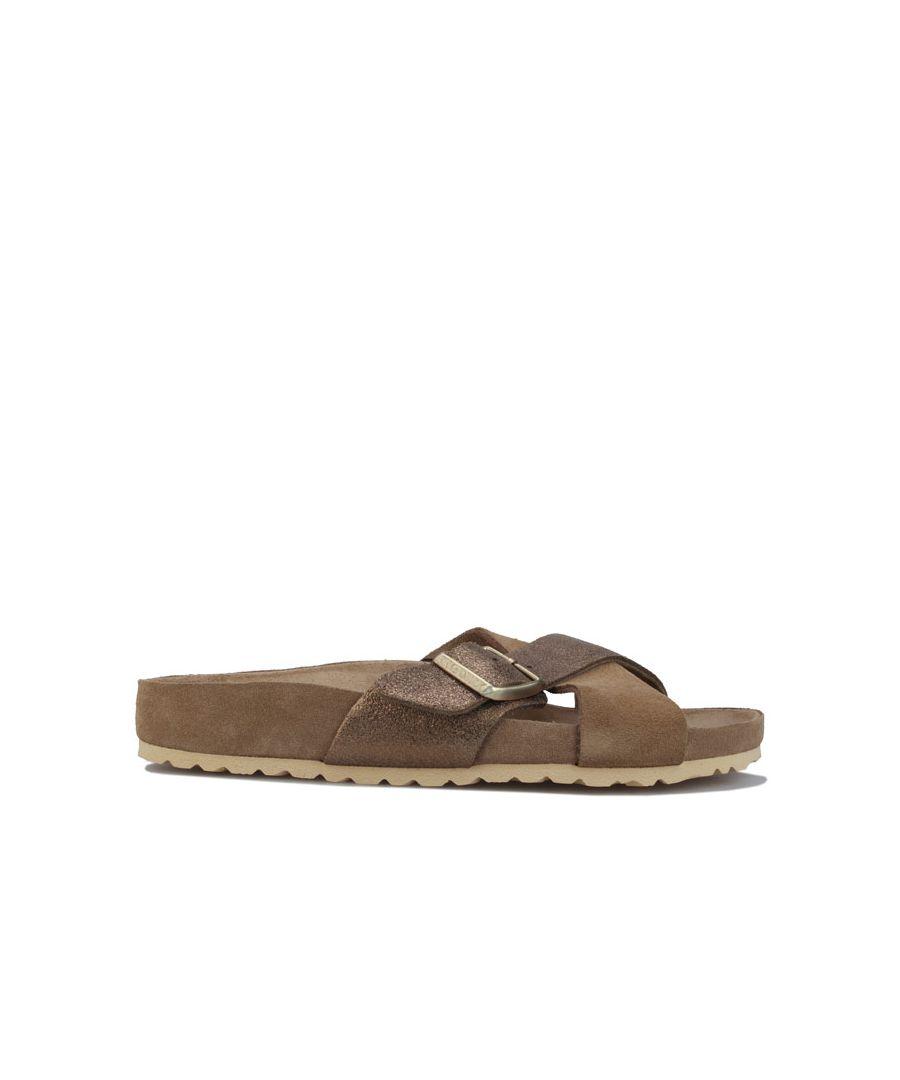Image for Women's Birkenstock Siena Exquisite Sandals Narrow Width Khaki UK 3.5in Khaki