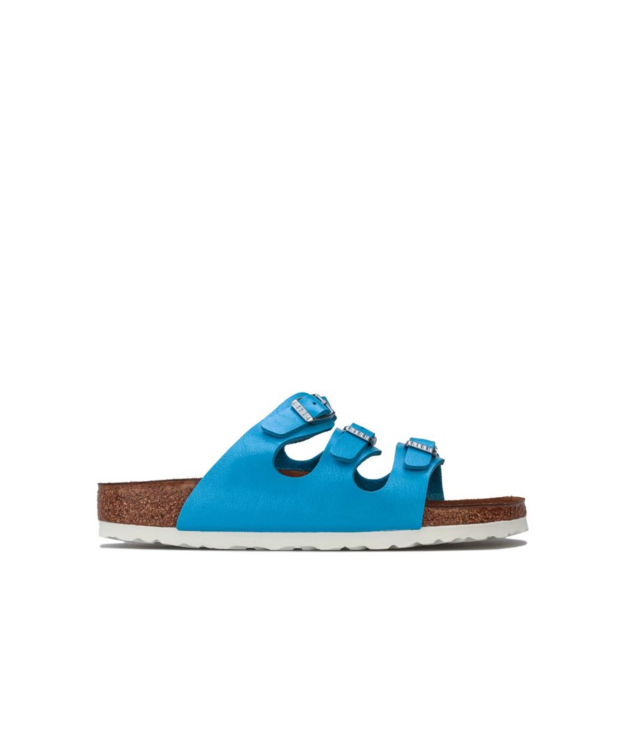 Image for Women's Birkenstock Florida Sandals Narrow Width in Blue