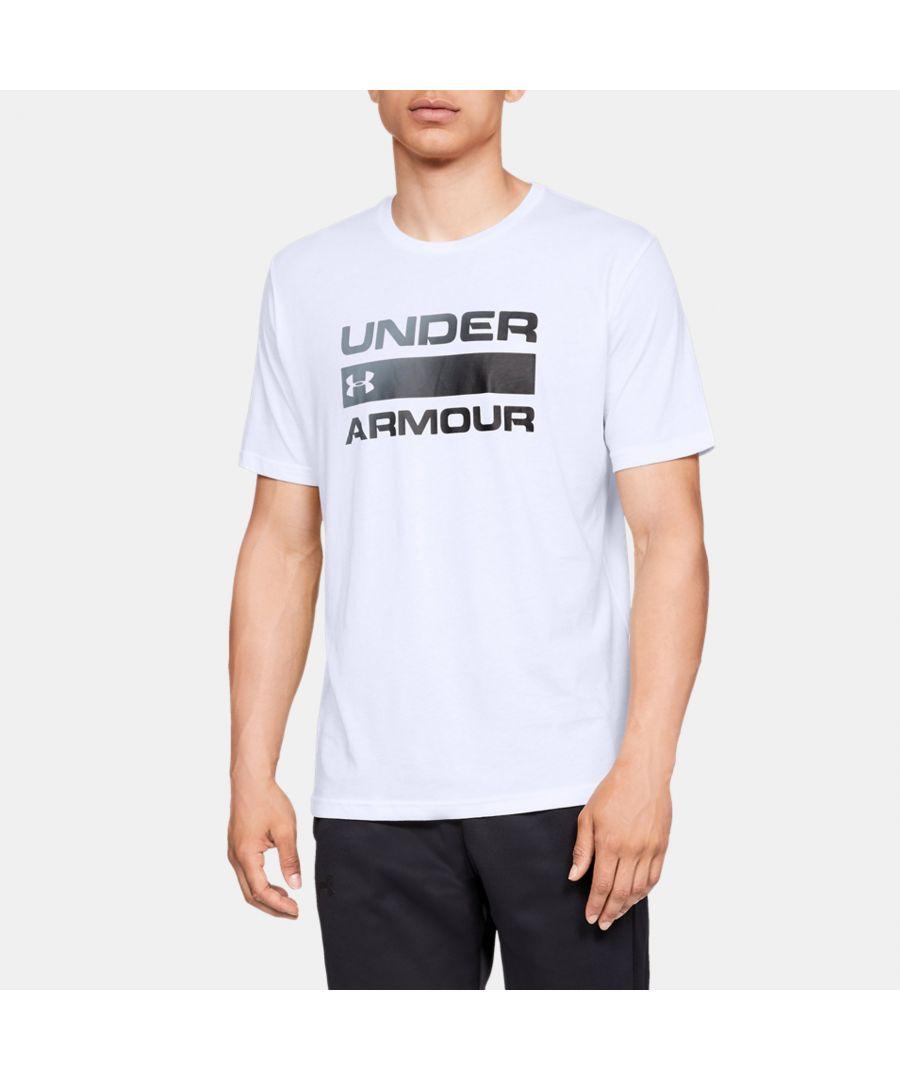 Image for Under Armour Men's UA Team Issue Wordmark T-Shirt, White