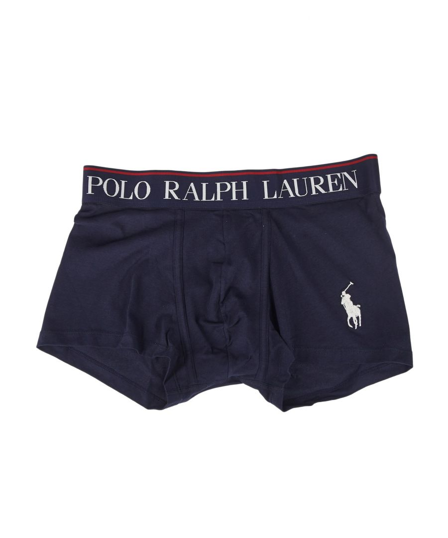 Image for RALPH LAUREN MEN'S 714753009004 BLUE COTTON BOXER