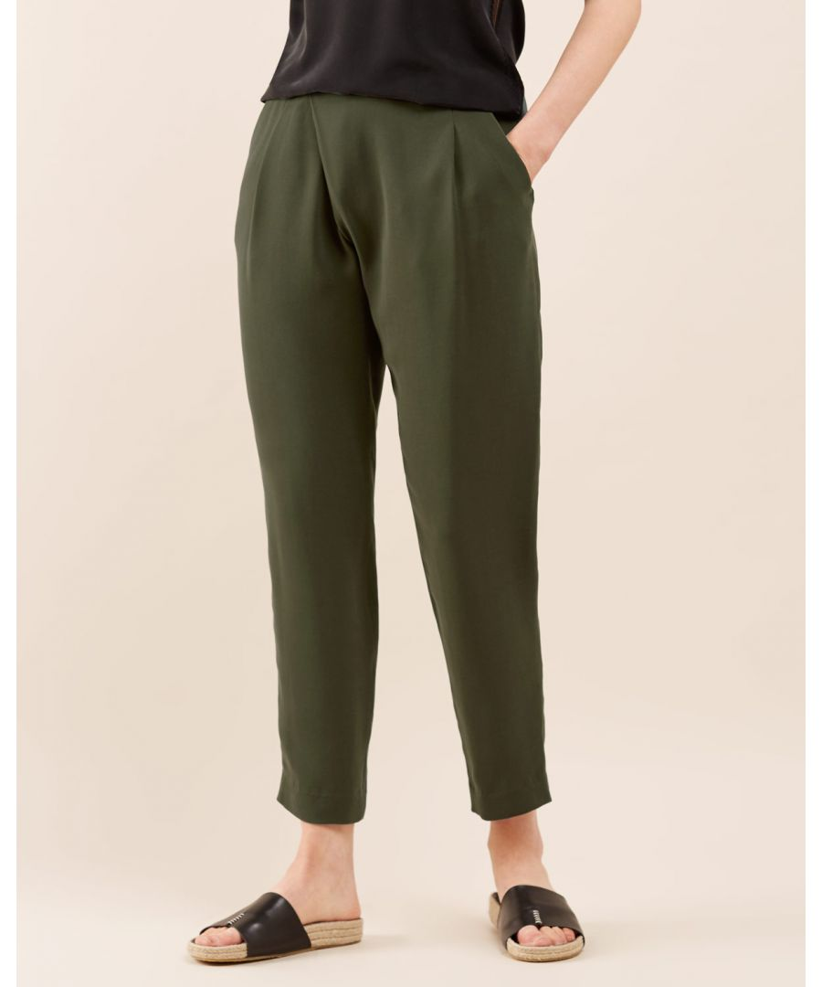 Image for Sandwashed Crepe Wrap Trouser