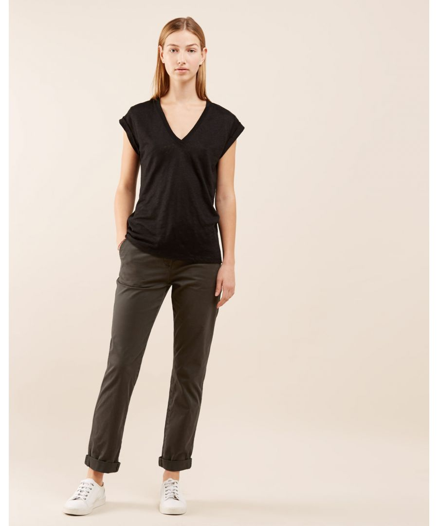 Image for Washed Cotton Leg Chino