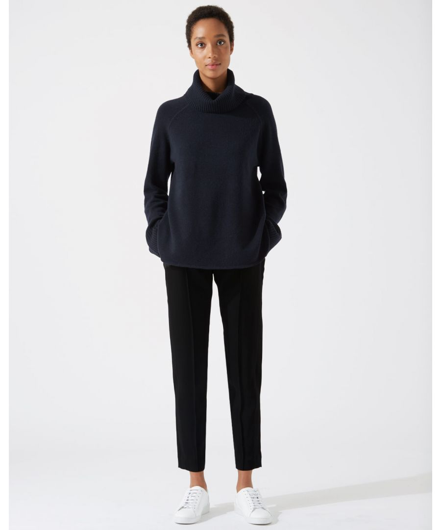 Image for Rib Trim Relaxed Trouser
