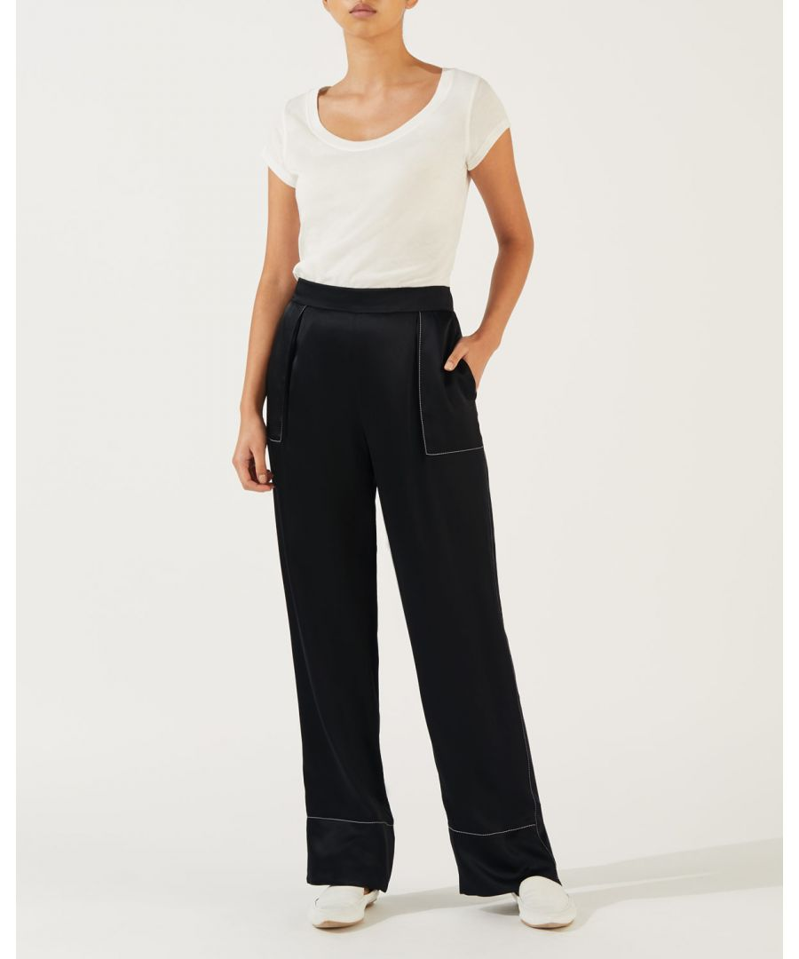 Image for Stitch Detail Wide Leg Trouser