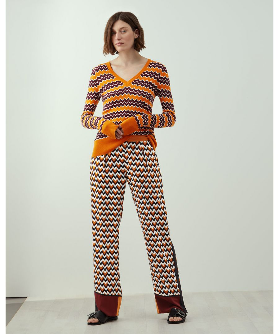 Image for A - Chevron Print Trouser