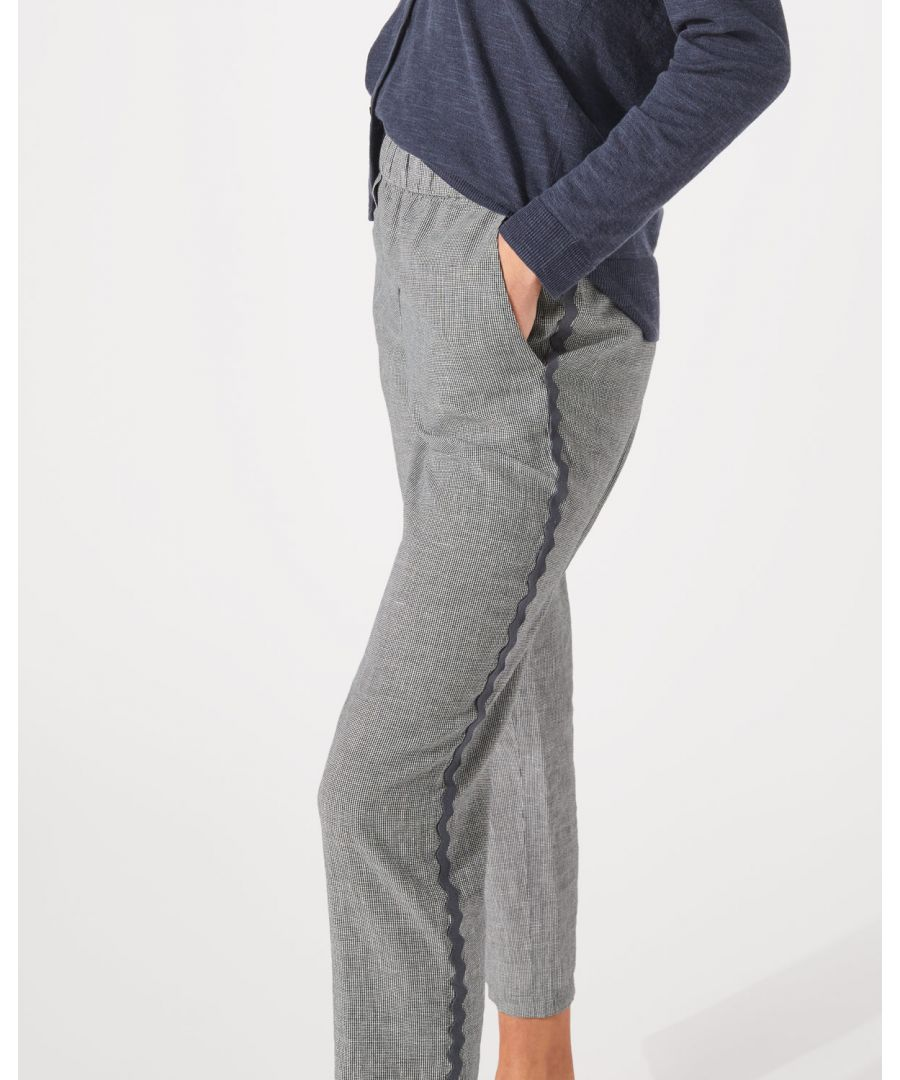 Image for Weave Linen Relaxed Trouser