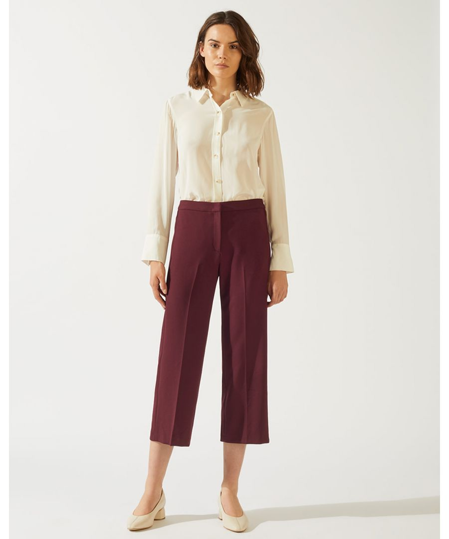 Image for Modern Crepe Crop Straight Trouser