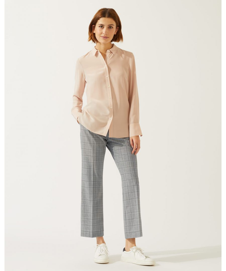 Image for Mono Check Crop Trouser
