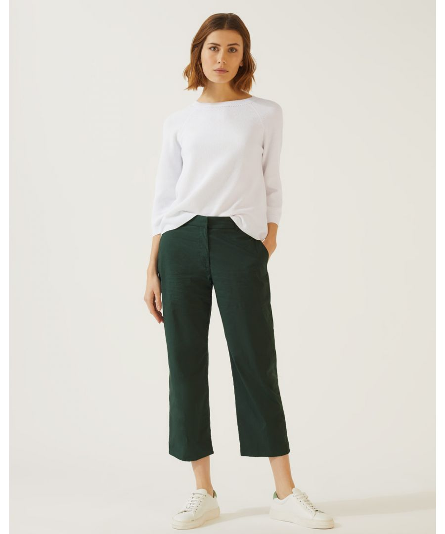 Image for Poplin Crop Trouser