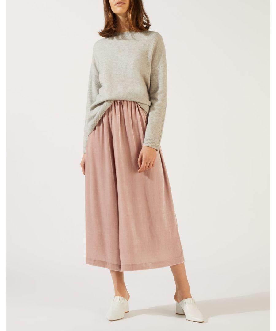 Image for Velvet Gathered Trouser