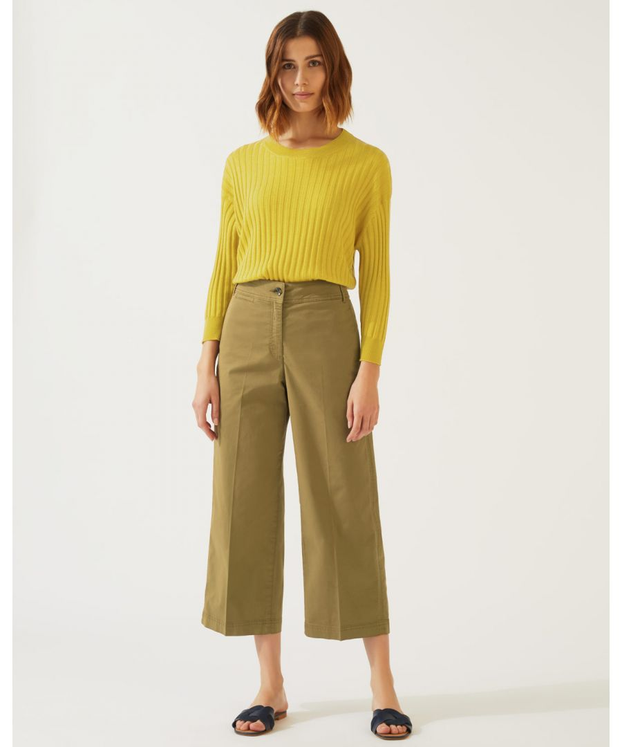 Image for High Waist Wide Leg Chino