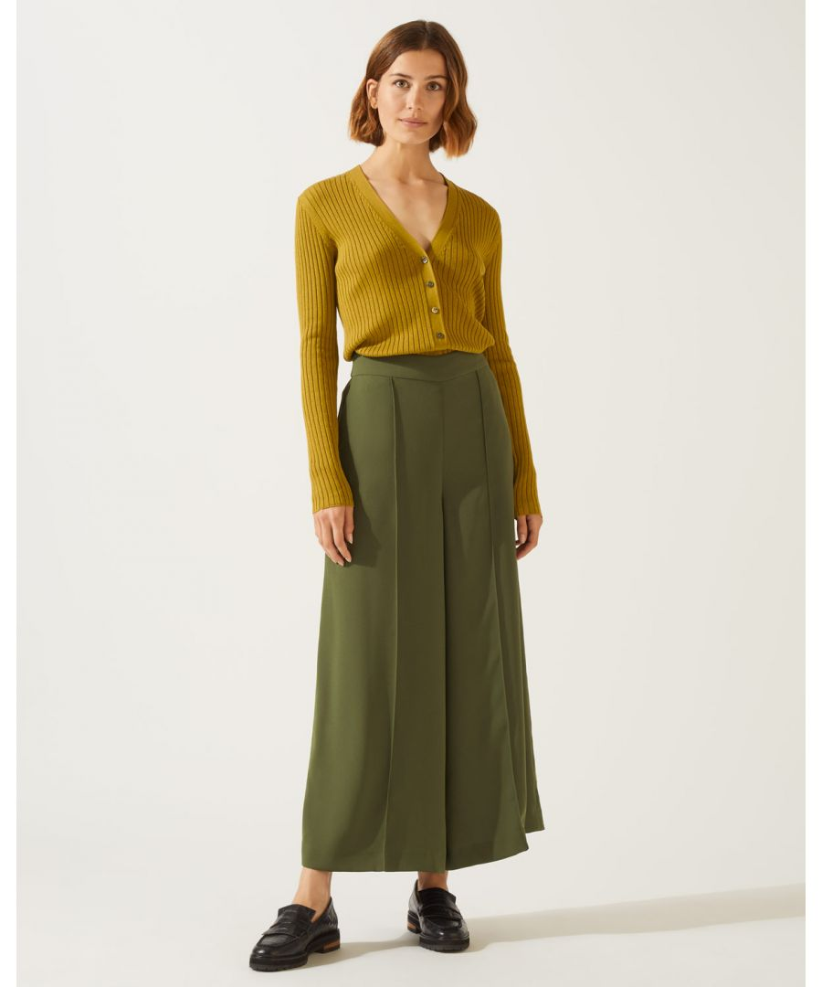 Image for Relaxed Gathered Waist Culotte