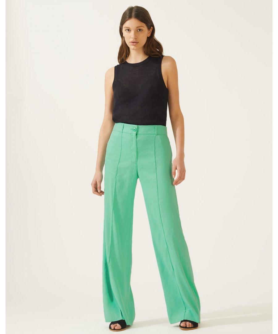 Image for Portofino Linen Flare Trouser