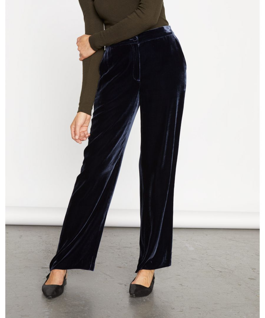 Image for Silk Velvet Relaxed Trouser