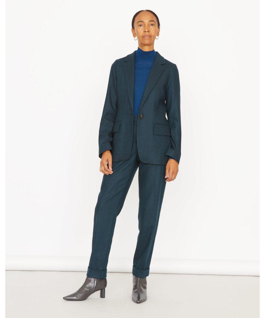 Image for Stretch Herringbone London Trouser