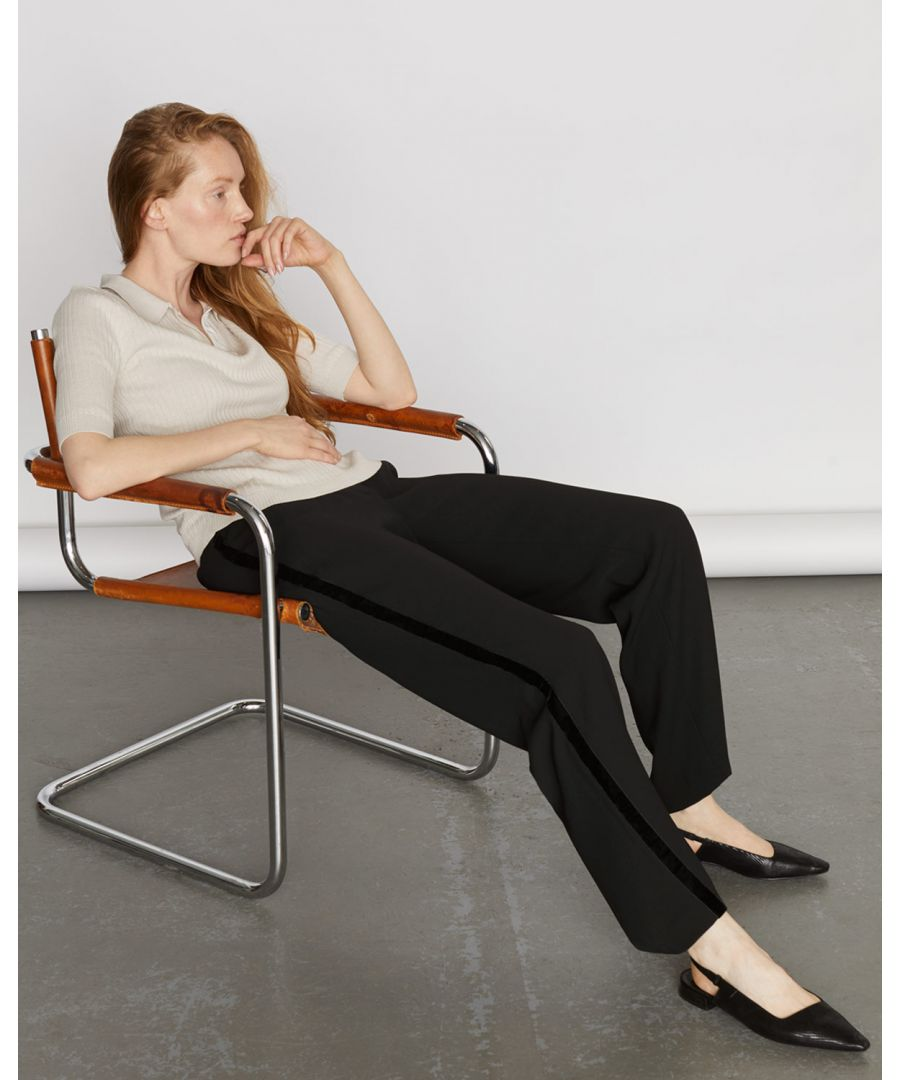 Image for Relaxed Velvet Trim Trouser