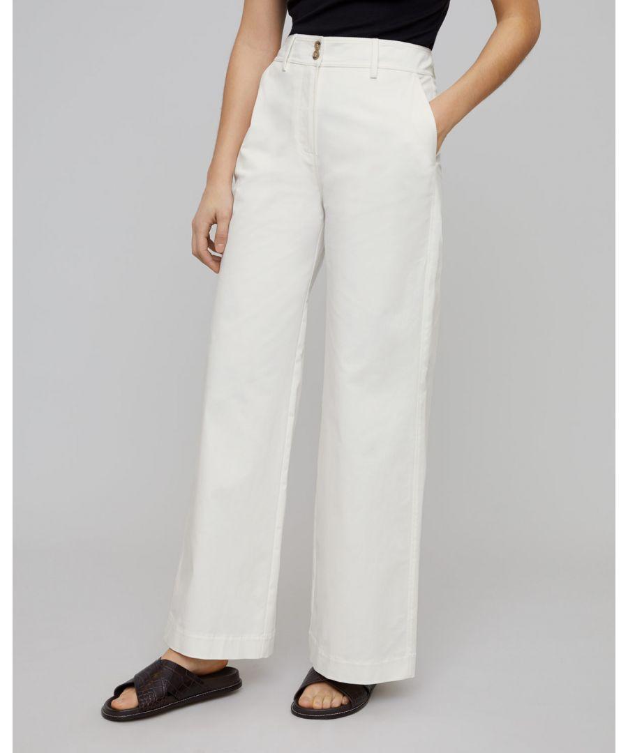 Image for Fine Drill Wide Trouser