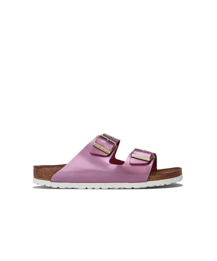 Image for Women's Birkenstock Arizona Soft Footbed Sandals Narrow Width in Pink