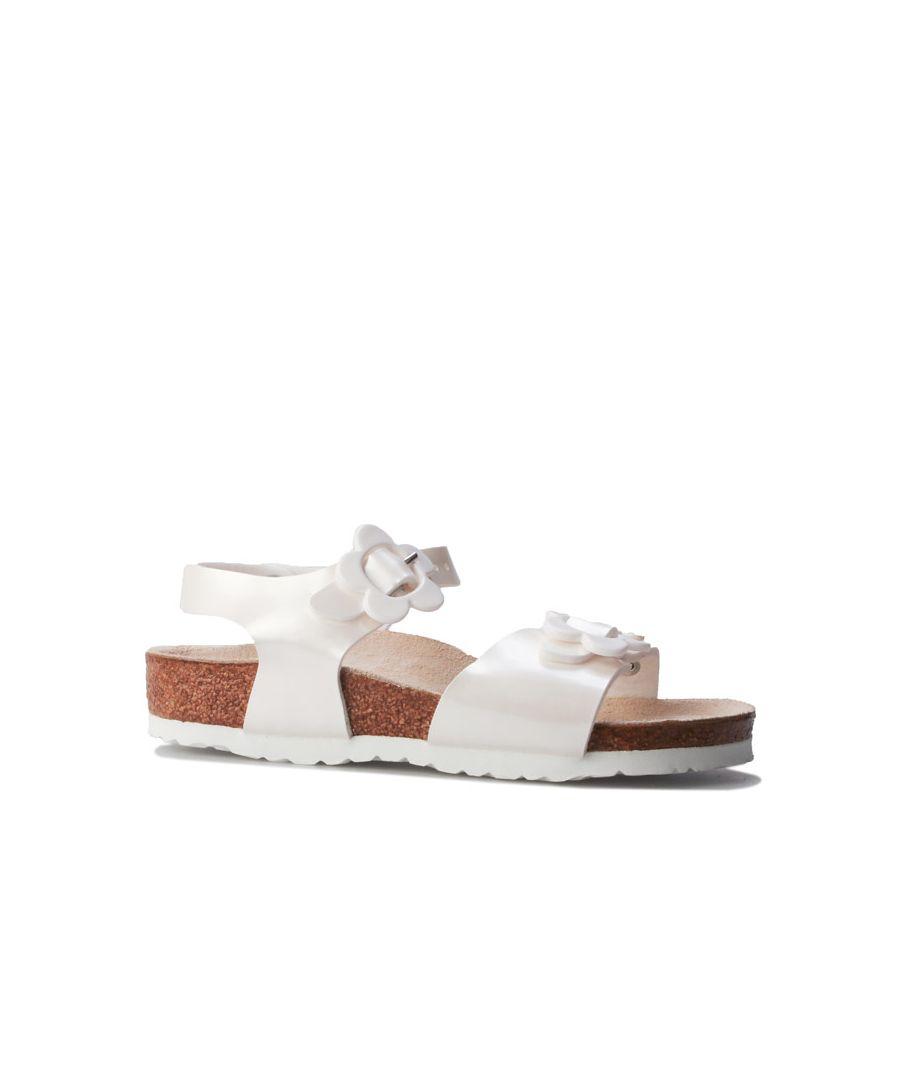 Image for Girl's Birkenstock Infant Rio Plain Sandal in White