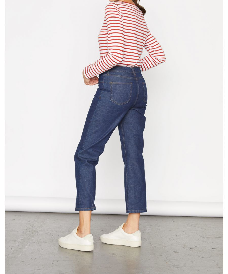 Image for Crop Straight Leg Ankle Jean