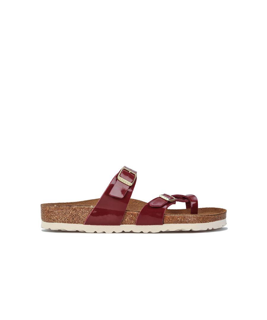 Image for Women's Birkenstock Mayari Patent Sandals Regular Width Burgundy UK 3.5in Burgundy