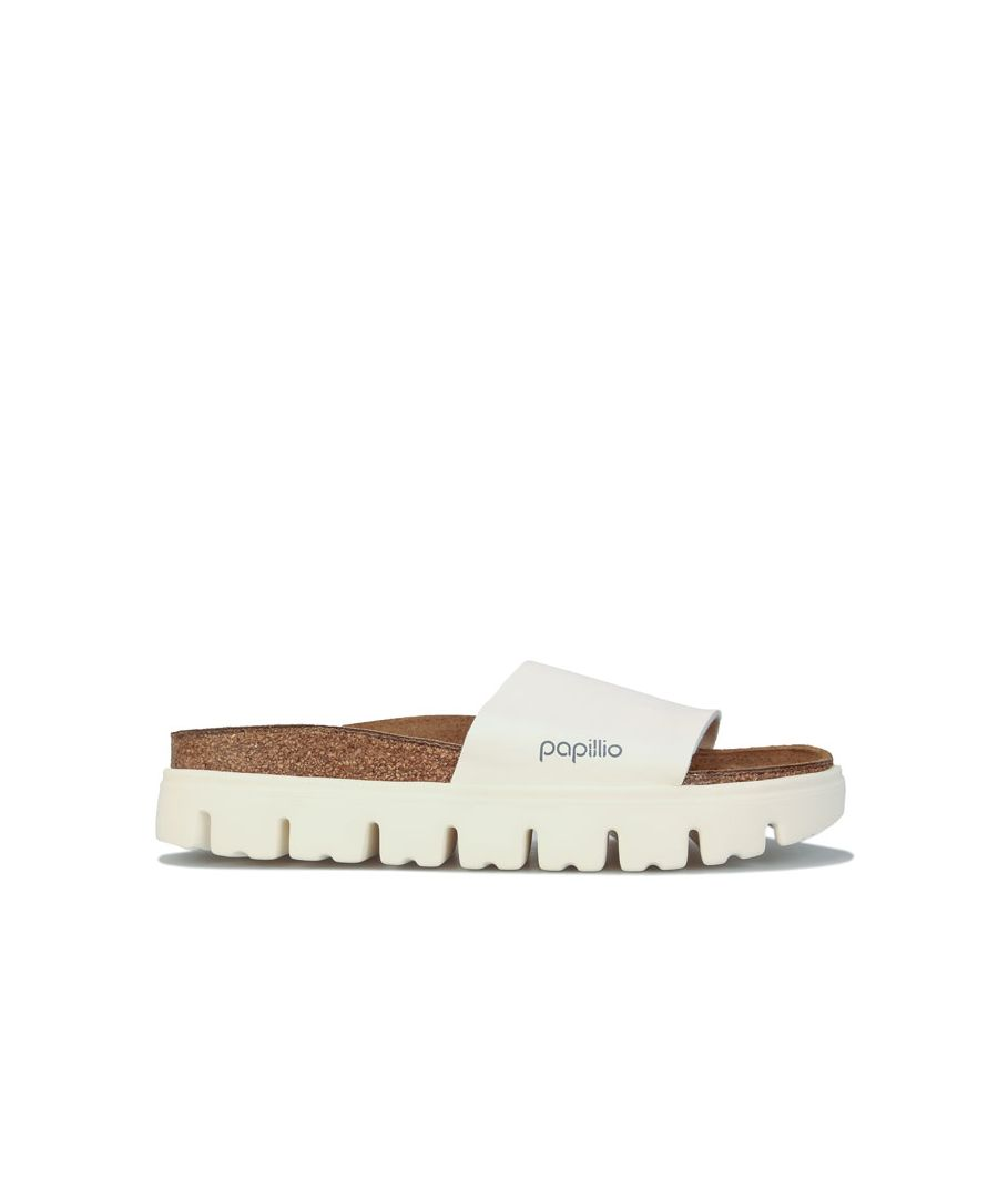 Image for Women's Papillio Cora Chunky Slide Sandals Narrow Width in White