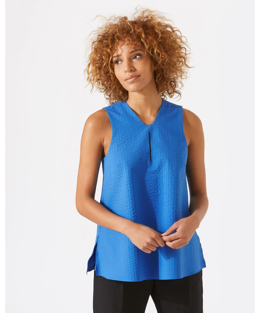 Image for Cotton Seersucker Top