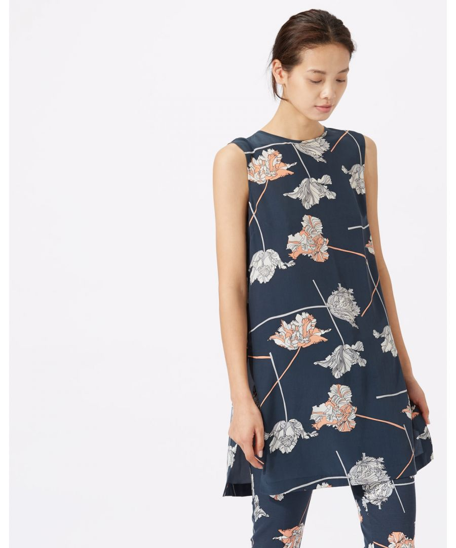 Image for Dancing Tulip Silk Tunic