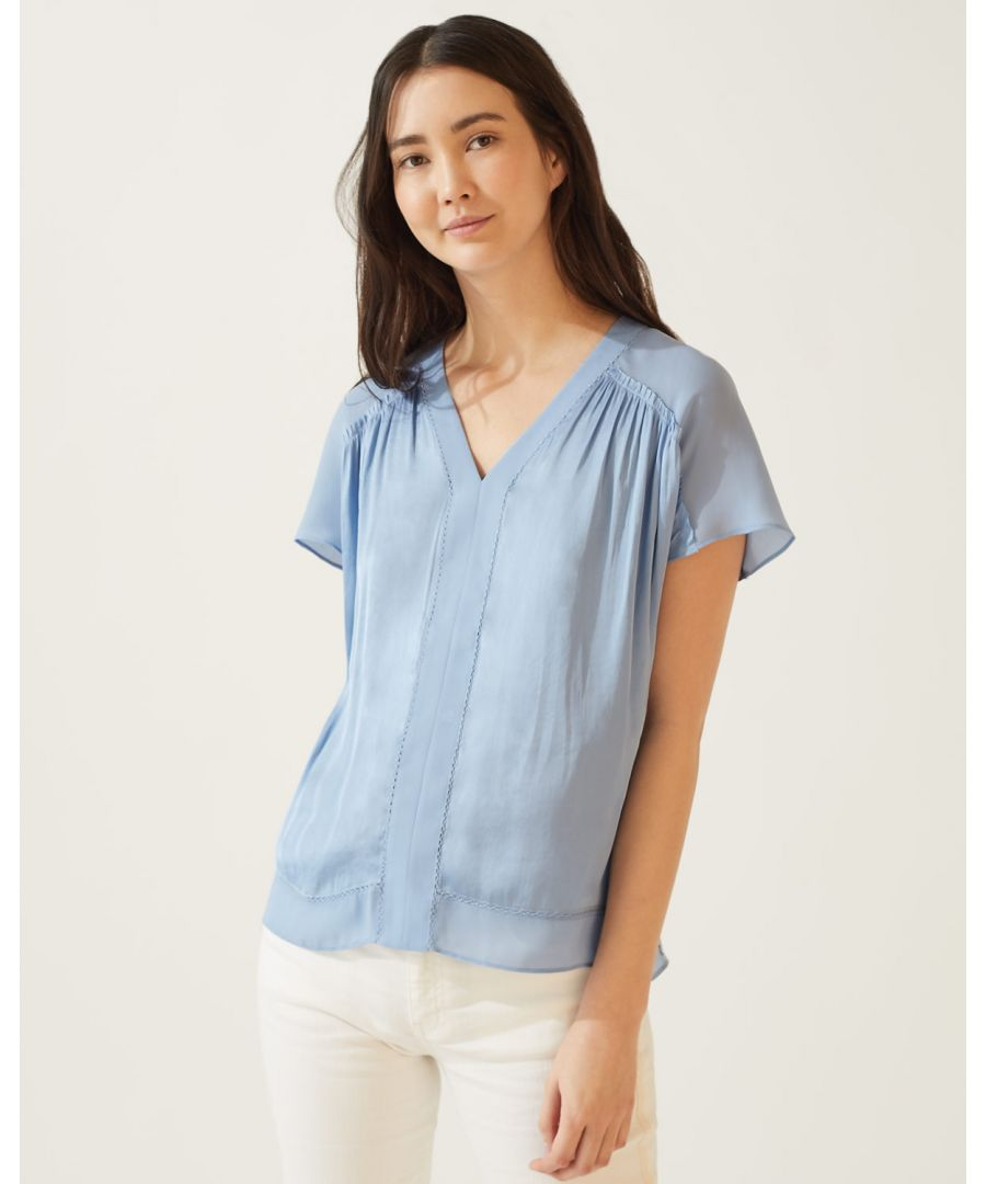 Image for Crocus Drape Ruffle Top