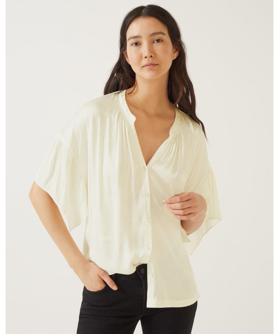 Image for Crocus Drape Button Top