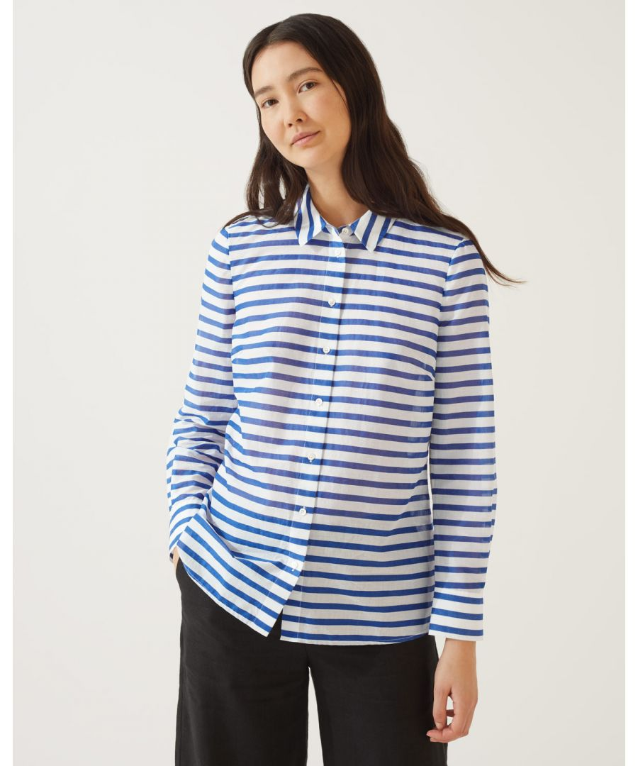 Image for Striped Sheer Shirt