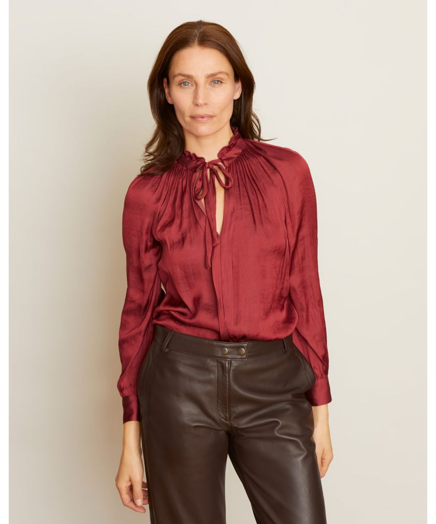 Image for Crocus Drape Tie Neck Top