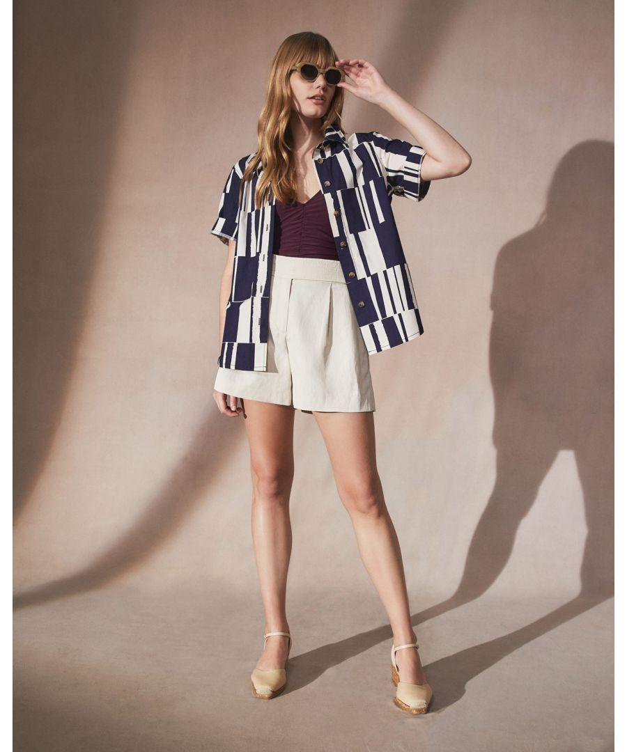 Image for Block Stripe Boxy Shirt