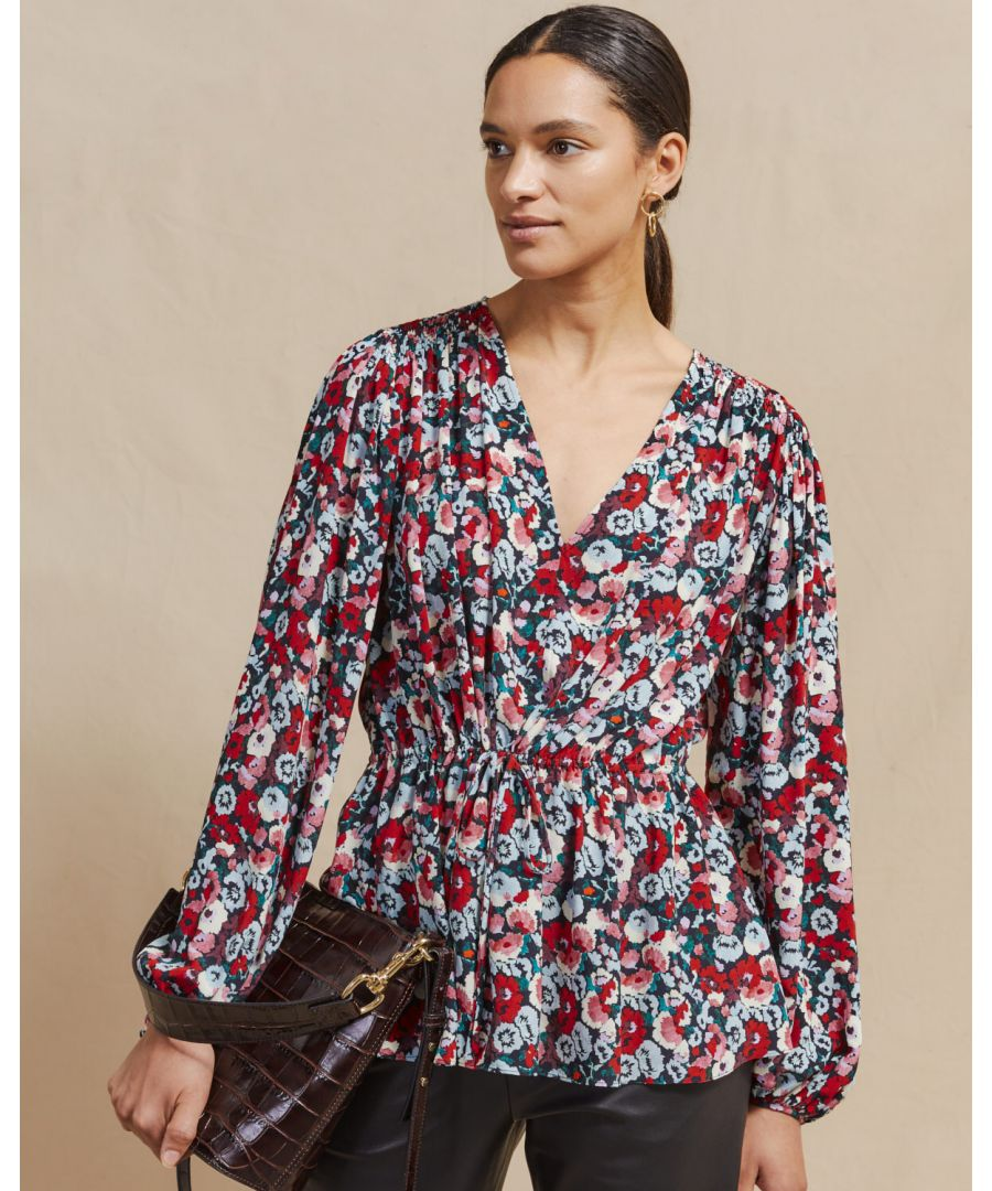 Image for Tapestry Floral V Neck Top