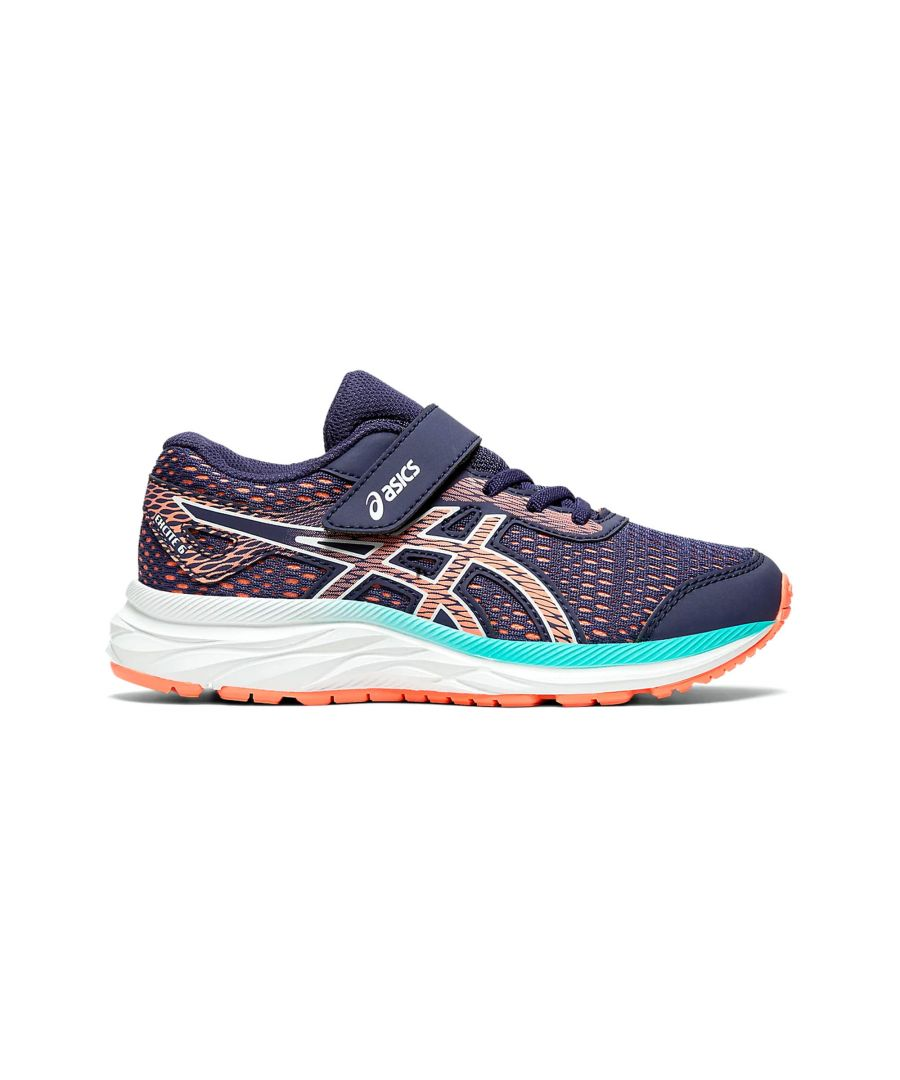 Image for Asics Excite 6 Junior Running Trainer Purple/Pink - UK 10