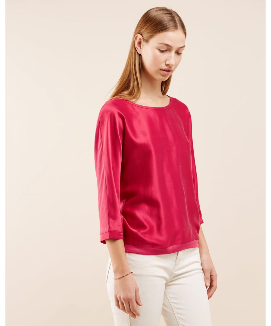 Image for Silk Satin Batwing Top