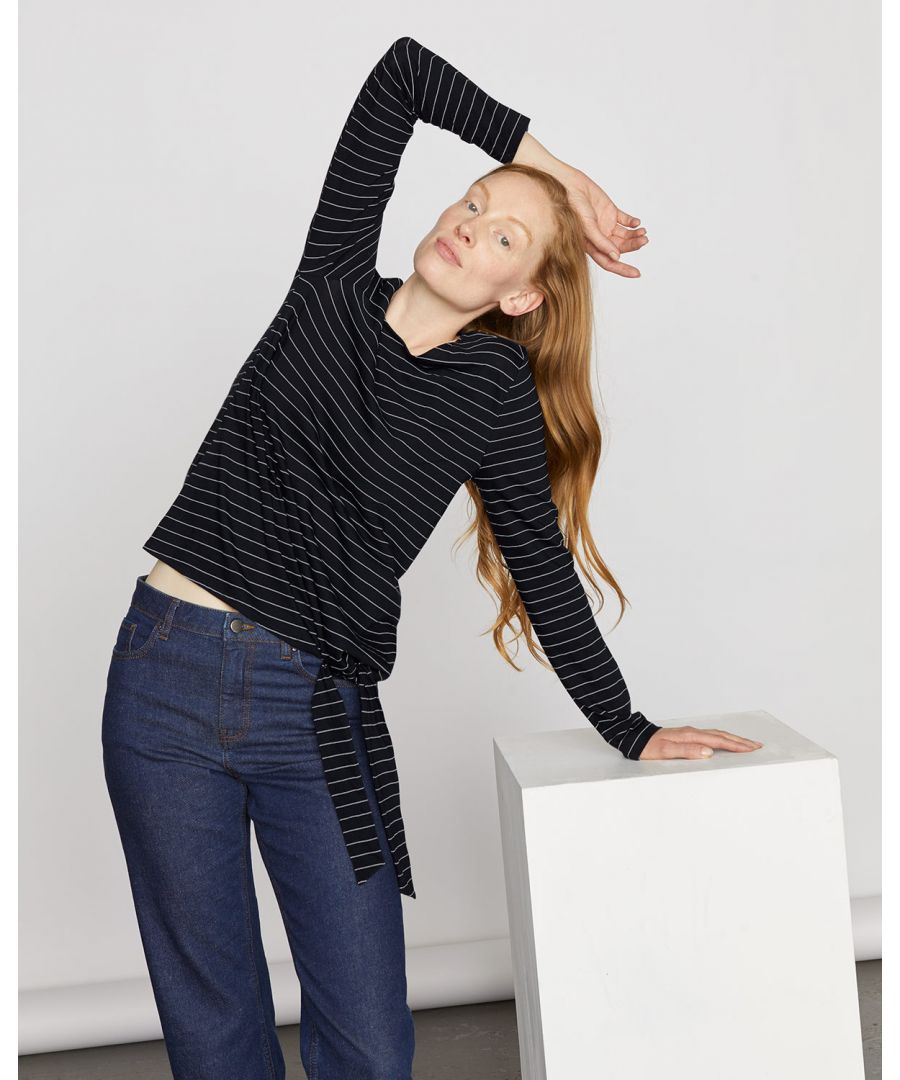 Image for Stripe Jersey Tie Top