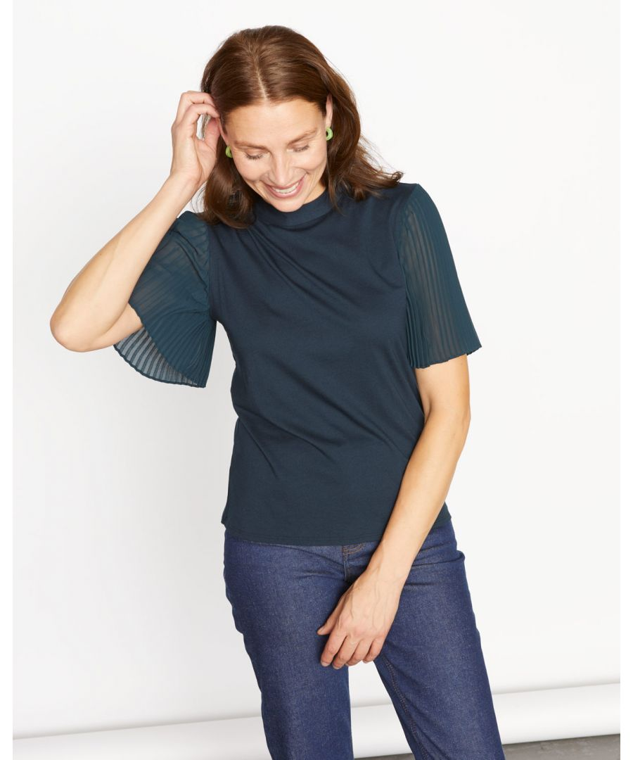 Image for Pleat Sleeve Top