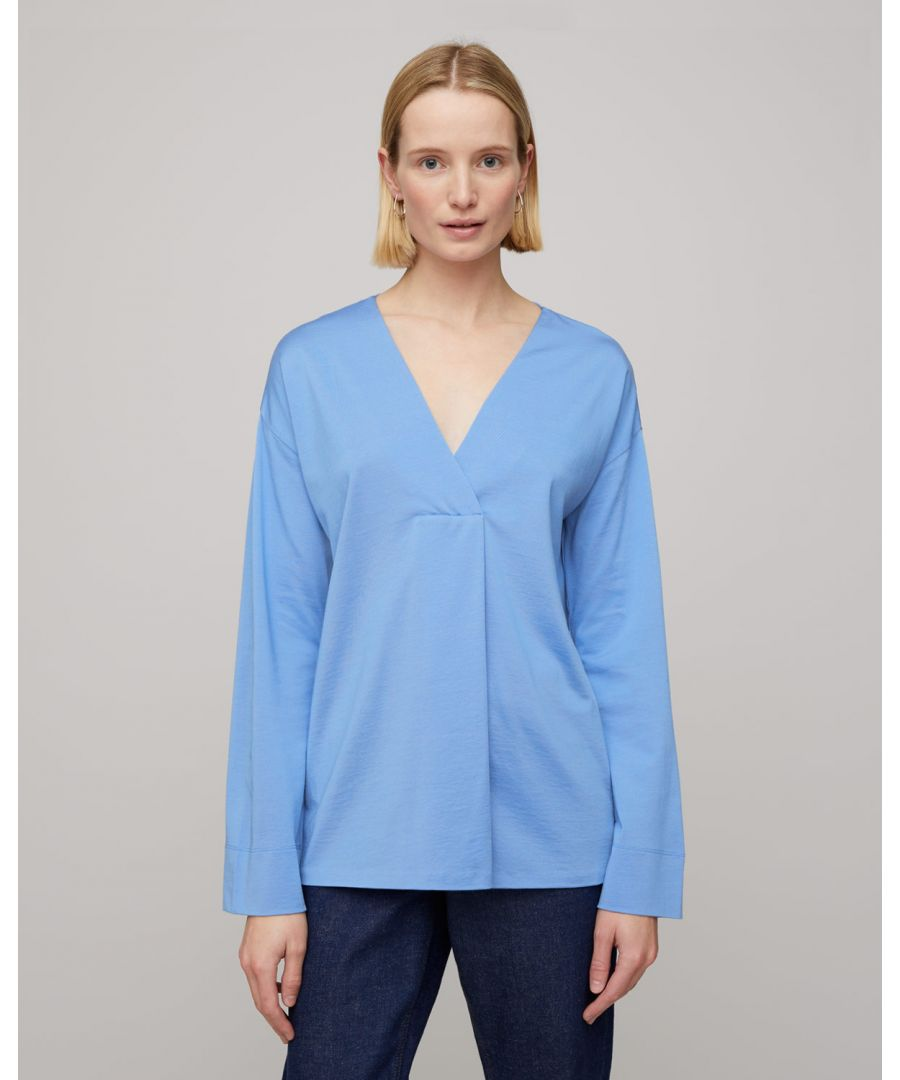 Image for Slinky Stitch Placket Blouse