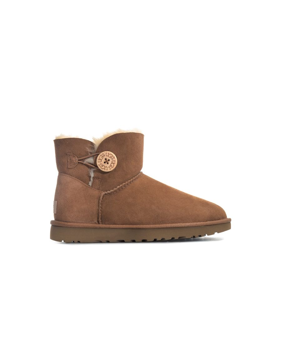 Image for Women's Ugg Australia Mini Bailey Button II Boots in Chestnut