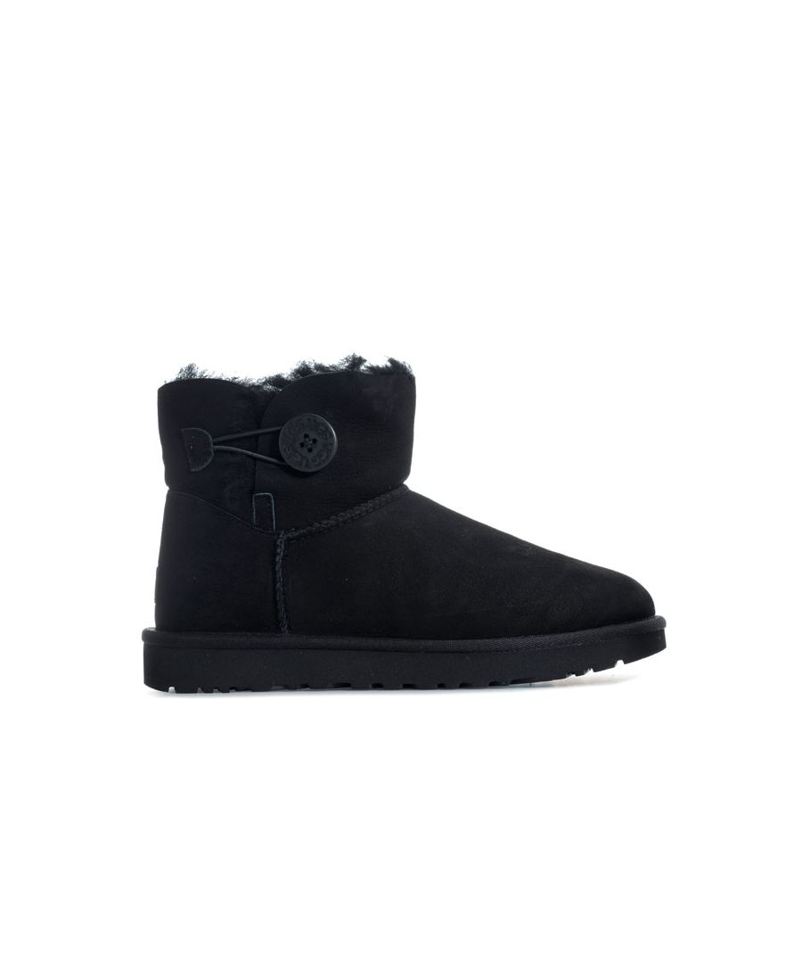 Image for Women's Ugg Australia Mini Bailey Button II Boots in Black